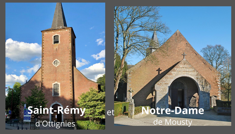 Saint-Rémy Ottignies et Notre-Dame Mousty